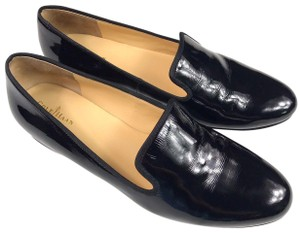 Cole Haan Patent Leather Slip-on Loafers Black Flats