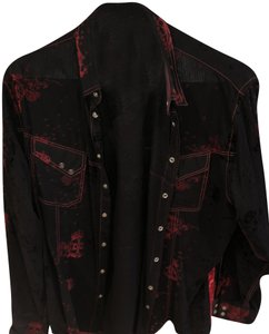 Georg Roth Los Angeles Detail Button Down Shirt Black, Red, White