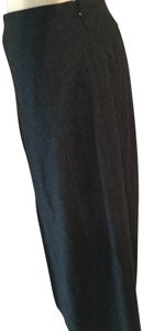 Harvé Benard Wool Maxi Skirt Gray