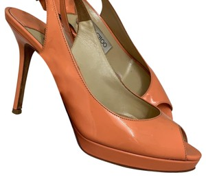 Jimmy Choo light orange Platforms