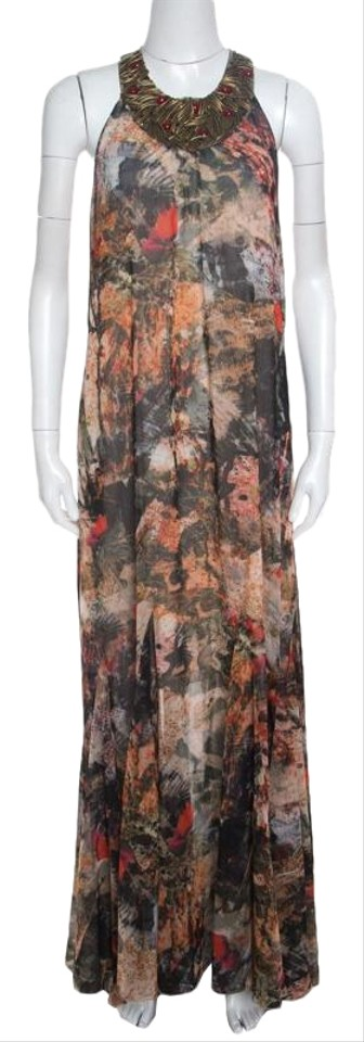 ef75770f5fd Alice + Olivia Jungle Safari Print Embellished Silk Shona Casual ...