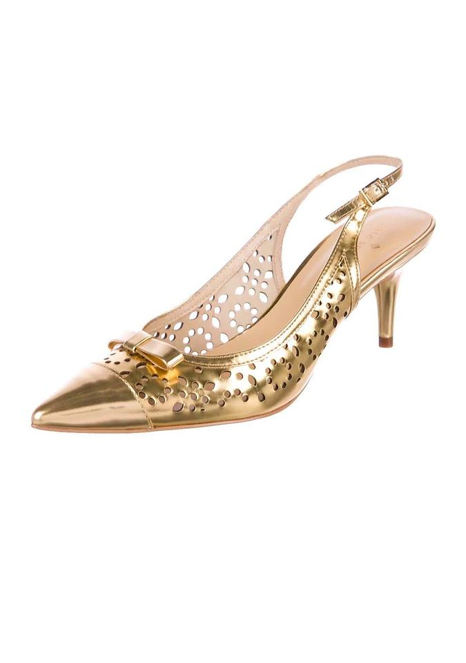 a4dac0d5ee11 Kate Spade Metallic Gold New York Slingback Sandals Formal Shoes ...