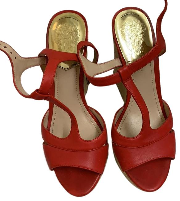 Vince Camuto Red Wedges Size US 7.5 Regular (M, B) Vince Camuto Red Wedges Size US 7.5 Regular (M, B) Image 1