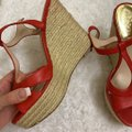 Vince Camuto Red Wedges Size US 7.5 Regular (M, B) Vince Camuto Red Wedges Size US 7.5 Regular (M, B) Image 2