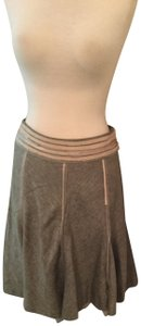 The Limited Wool Linen Tulle Skirt Cream
