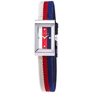 Gucci Gucci G-Frame White/Red/Blue Dial Ladies Watch YA147508