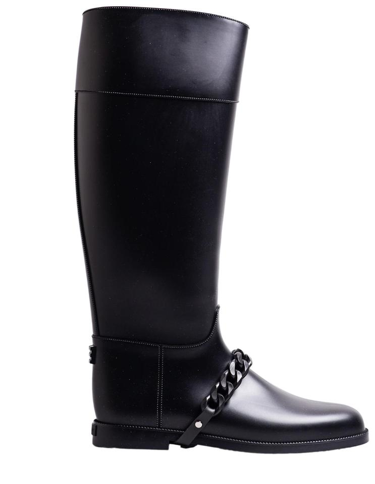Givenchy Black Eva Rubber Rain Boots Booties Size EU 41 (Approx. US ... 54fce5f02