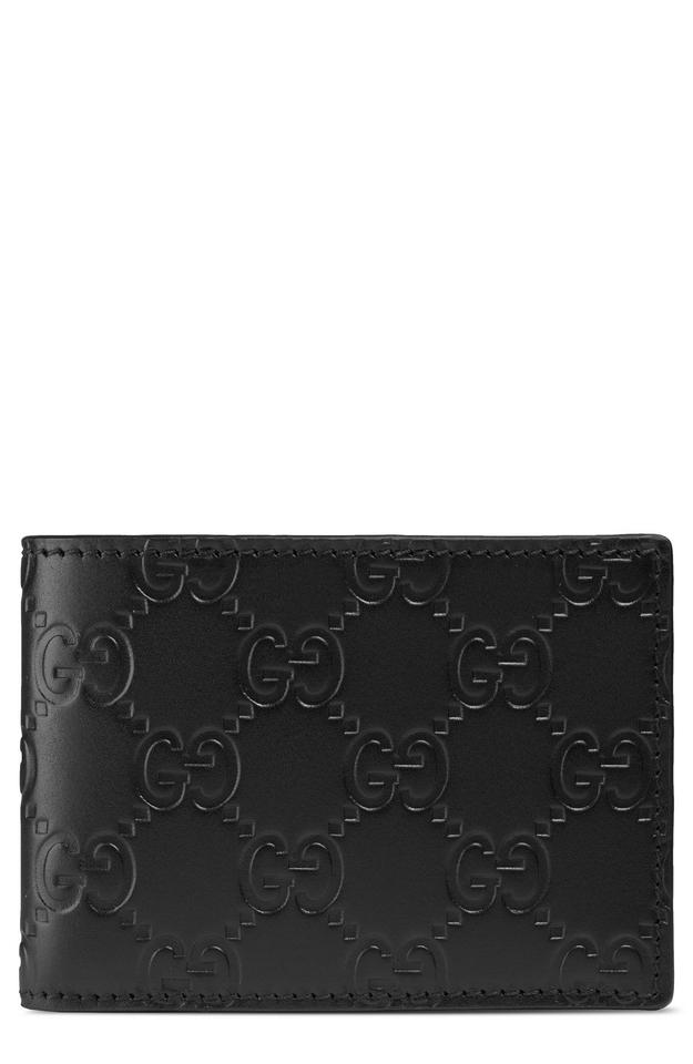 111d3b0ca09 Gucci NEW Gucci GG Signature Avel Wallet Mens Bifold Leather Black Image 0  ...