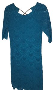 Nightcap short dress teal on Tradesy