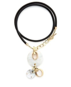Chimento Eclisse mother of pearl cord necklace