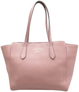 Gucci Calfksin Small Tote in pink