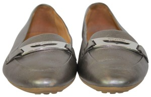 Coach Leather Casual Metallic Pewter Flats