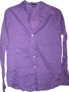 Theory Button Down Shirt Purple