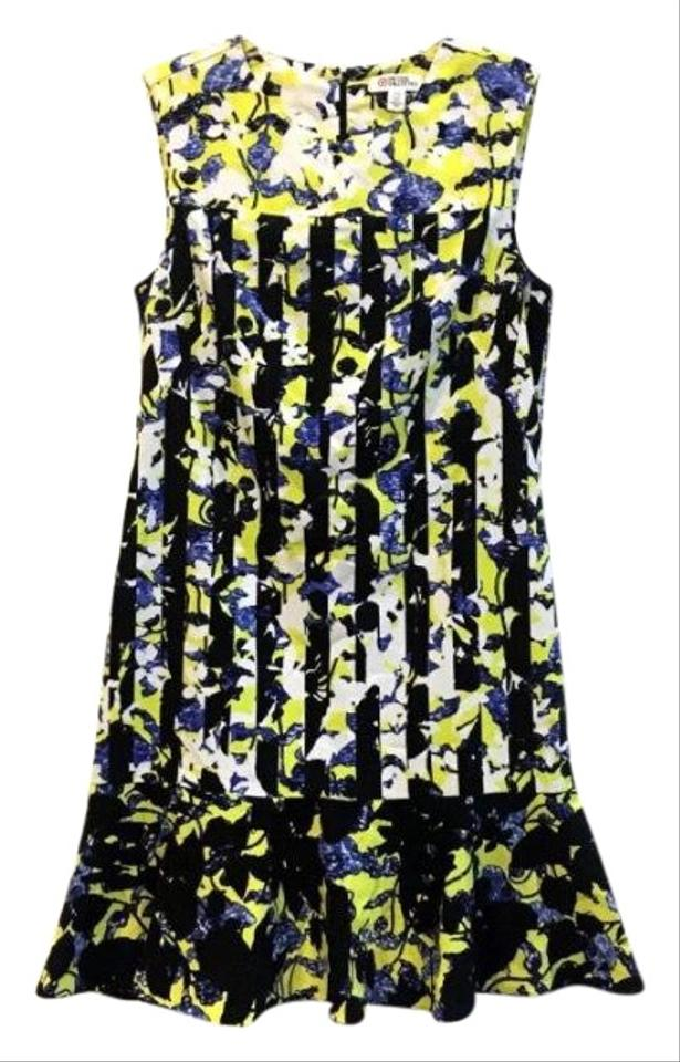 047216fea6b08 Peter Pilotto for Target Black   Yellow Fit Flare Floral Sleeveless Casual  Dress