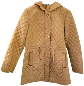 Massimo Dutti Coat Quilted Coat Quilted Fall Coat Beige Jacket