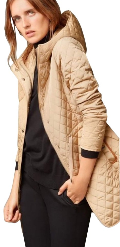 beeea89a00 Massimo Dutti Coat Quilted Coat Quilted Fall Coat Beige Jacket Image 7.  12345678