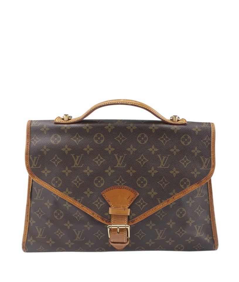 7c3801506bd1 Louis Vuitton Beverly M51121 Monogram Briefcase (159512) Brown ...