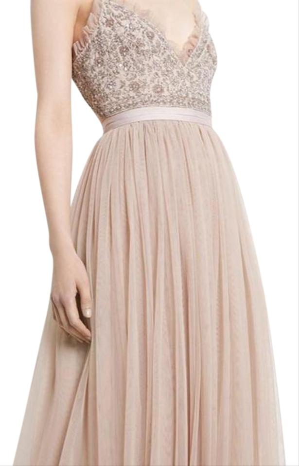 8caf677233 Needle   Thread Beige Andromeda Maxi Long Formal Dress Size 10 (M ...