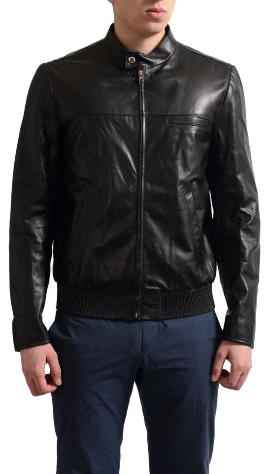 2a1a7a49735c0 Prada Black Men's Lamb Skin Full Zip Bomber Jacket Size 12 (L) 43% off  retail
