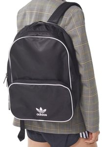 adidas Classic Black White Polyester Backpack - Tradesy