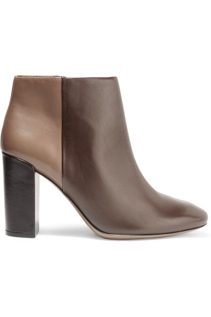 Tory Burch Brown/Beige Bowie Two-tone Leather Boots/Booties Size US 9.5 Regular (M, B) Tory Burch Brown/Beige Bowie Two-tone Leather Boots/Booties Size US 9.5 Regular (M, B) Image 1