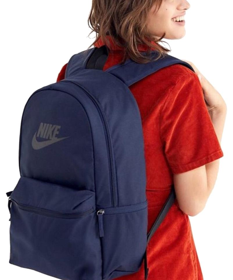 0c4cacd51ba Nike Sportswear Heritage Laptop Blue Black Polyester Backpack