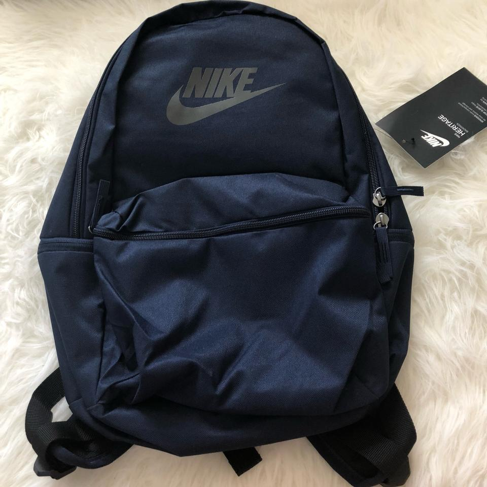 3b70a0806e4f1 Nike Sportswear Heritage Laptop Blue Black Polyester Backpack - Tradesy