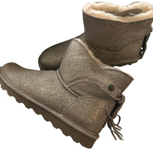 Bearpaw pewter (sparkly tan) Boots