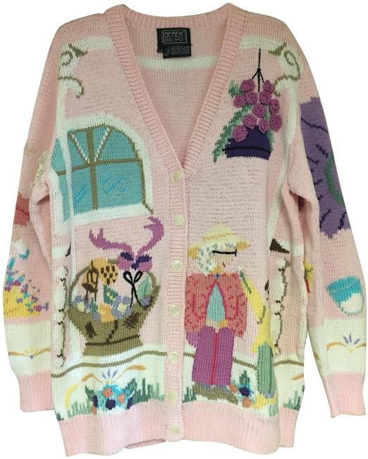Item - Pink Knitted By Hand Grandmother Sweater Sweatshirt/Hoodie Size 8 (M)