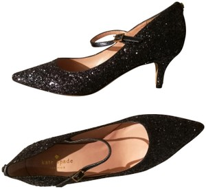 a5e8873eaadf Kate Spade Navy Licorice Too Glitter Pumps Size US 6.5 Regular (M
