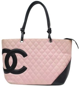 Chanel Neverfull Travel Gm School Work Business Beach Gift Carryall Keepall Pur Purse Initials Handb Tote in pink/black