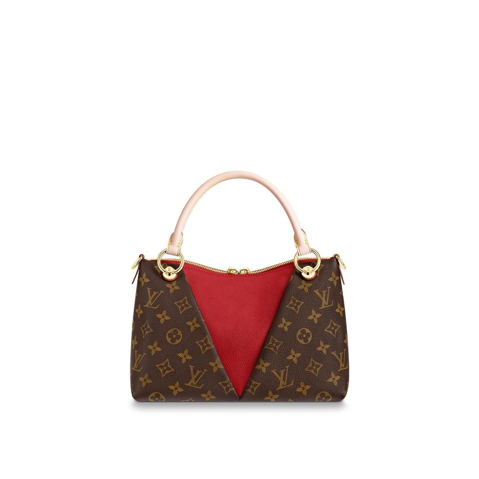 3ca44f050c Louis Vuitton V Tote New Cerise Bb Monogram Red Leather Cross Body Bag