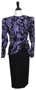 Lillie Rubin Vintage Purple and Black Lillie Rubin Outfit 80's