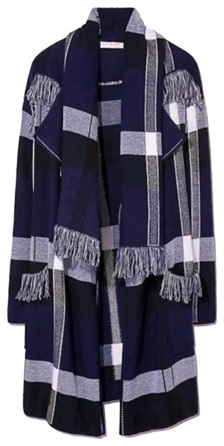 Item - Navy Blue/ White Gwen Coat Size 4 (S)