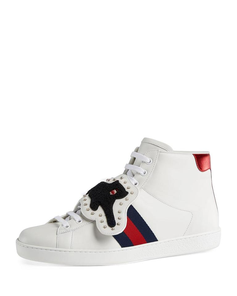 f566699e3 Gucci White New Mens Ace Patch Panther Sneakers Size US 10.5 Regular ...