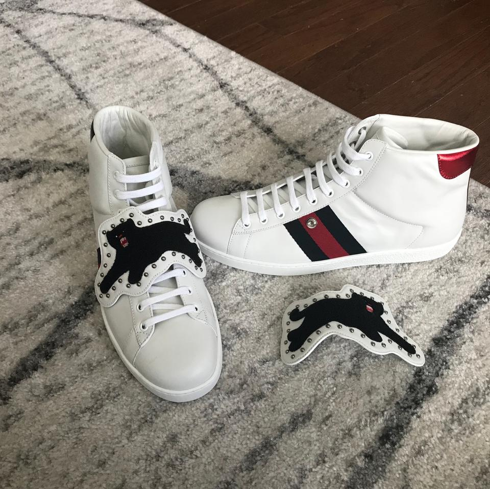 f5fd9500b Gucci White New Mens Ace Patch Panther Sneakers Size US 10.5 Regular (M, B)  - Tradesy