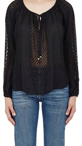 L'AGENCE Couture Office Fall Designer Top Black