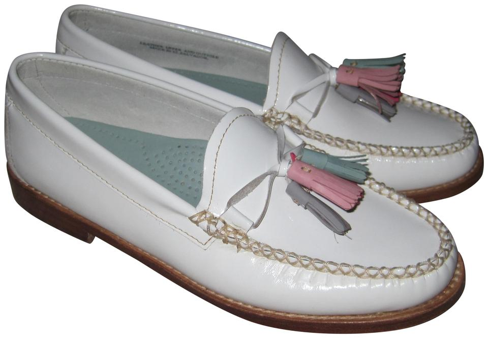 164cd6743fa42 G.H. Bass & Co. White Willow Tassel Weejuns Penny Loafers Slip-on ...