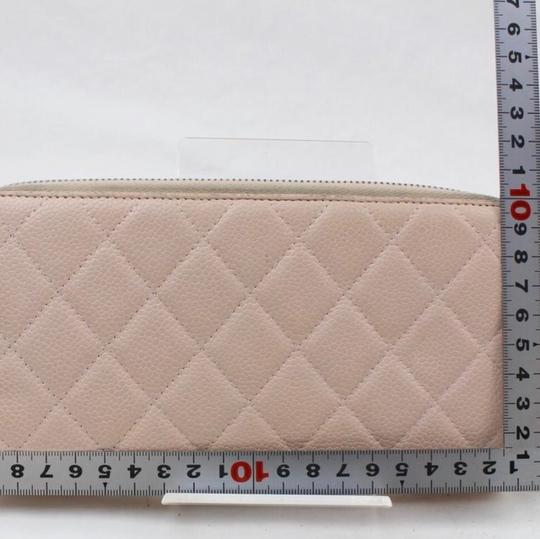 Chanel Beige clutch quilted zippy wallet Image 1
