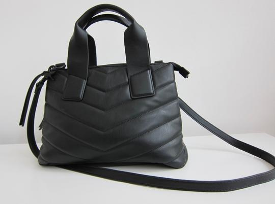French Connection Lady Like Vegan Satchel in Mount Fuji Image 8