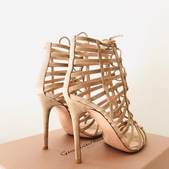 Gianvito Rossi Caged Sandal Lace-up Sandal Classic Nude Formal Image 3