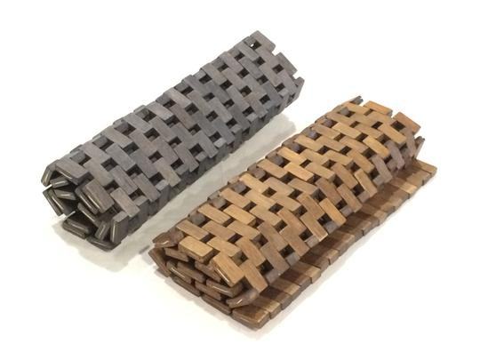 Pomax Set of 2 Wood Tile Placemats Image 10