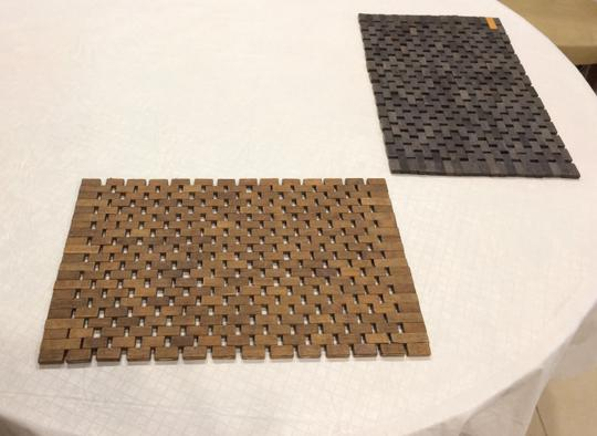 Pomax Set of 2 Wood Tile Placemats Image 5