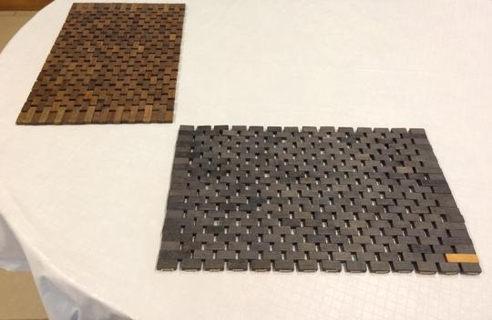Pomax Set of 2 Wood Tile Placemats Image 6