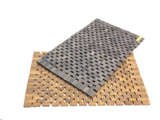 Pomax Set of 2 Wood Tile Placemats Image 7