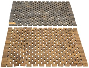 Pomax Set of 2 Wood Tile Placemats