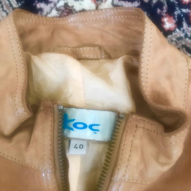 Koc light brown beige Leather Jacket Image 1
