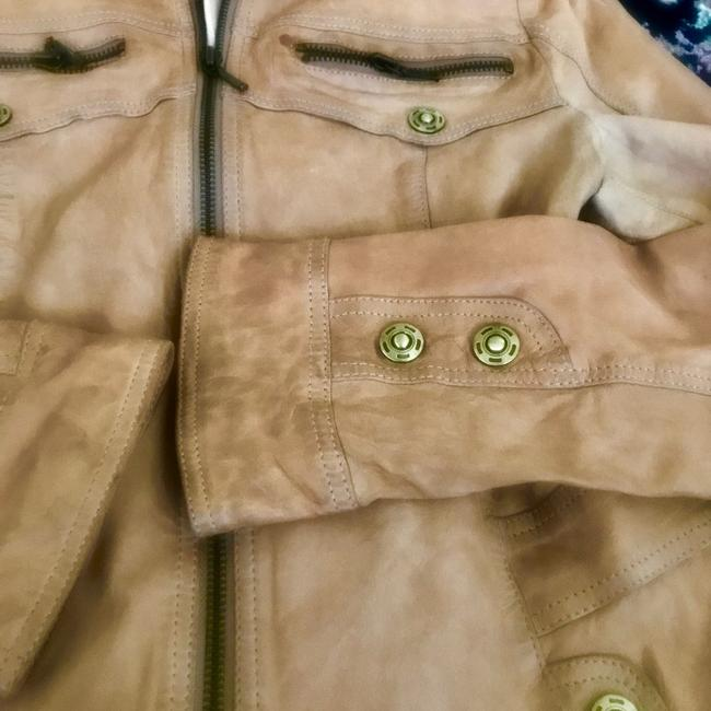 Koc light brown beige Leather Jacket Image 2