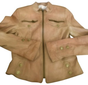 Koc light brown beige Leather Jacket
