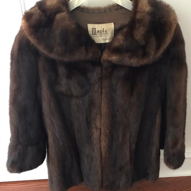 Vintage Real Mink Coat 3/4 Sleeve Fur Coat Image 1